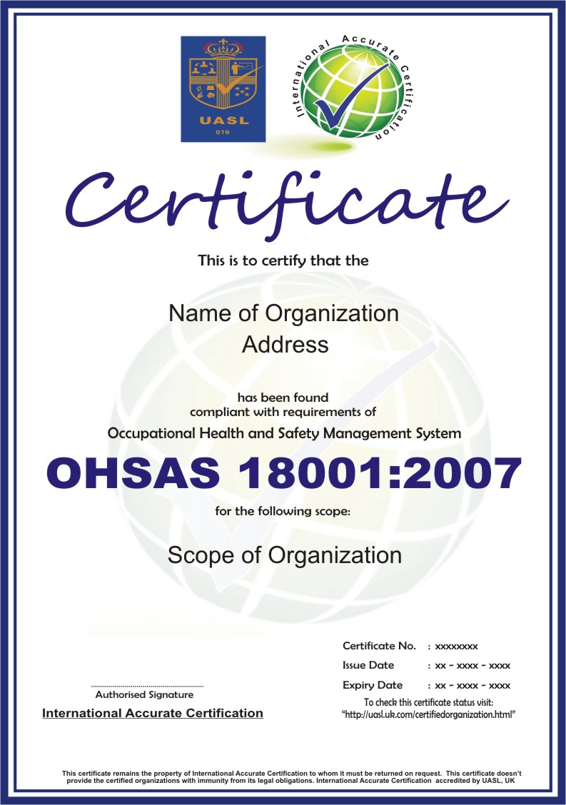 Ohsas 180012007 organizations in implementing health and safety policies and objectives this series is similar to the structure of iso 14001 and is based on two 1betcityfo Gallery